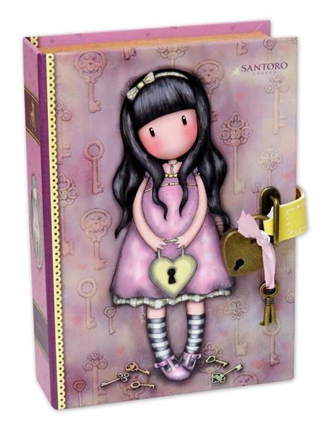 Imagen de Joyero Libro con Candado Gorjuss The Secret