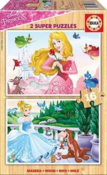 Imagen de Puzzle Princesas Disney 2X16 Piezas