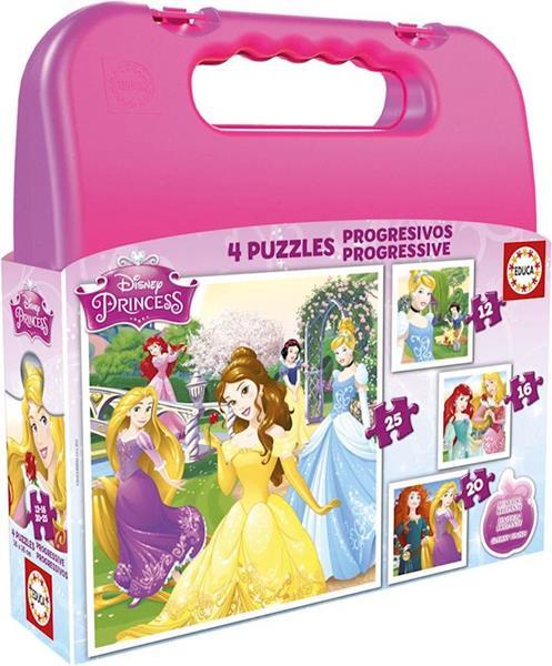 Imagen de Maleta Puzzle Princesas Disney