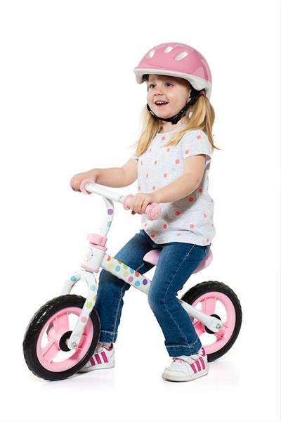 Imagen de Bicicleta Sin Pedales Rosa Con Casco