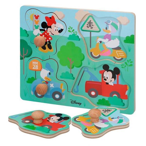 Imagen de Puzzle Encajable Madera Mickey Y Minnie