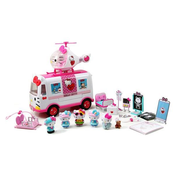 Imagen de Ambulancia y Helicóptero de Hello Kitty