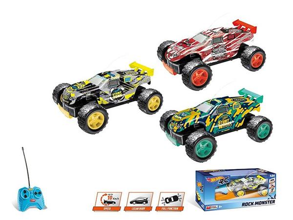 Imagen de Coche Radiocontrol Hot Wheels Rock Monster