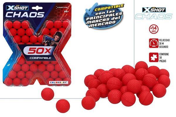 Imagen de Recambio X-shot Chaos 50 Bolas