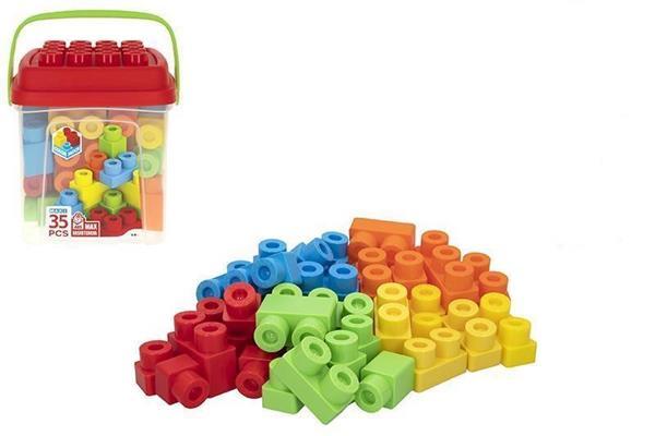 Imagen de Cubo Bloques Construcción 35 Piezas