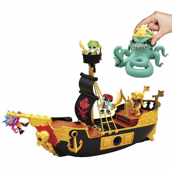 Imagen de Treasure X Barco Pirata Con Kraken