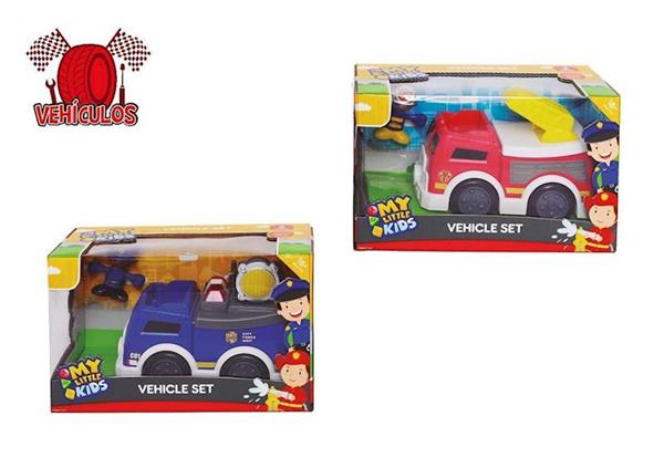 Imagen de Camión Policía o Bomberos con Muñeco