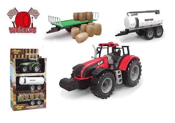Imagen de Tractor con Remolques Cisterna y Bidones
