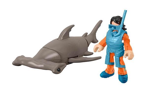 Imagen de Imaginext Muñecos y Tiburones con Accesorios