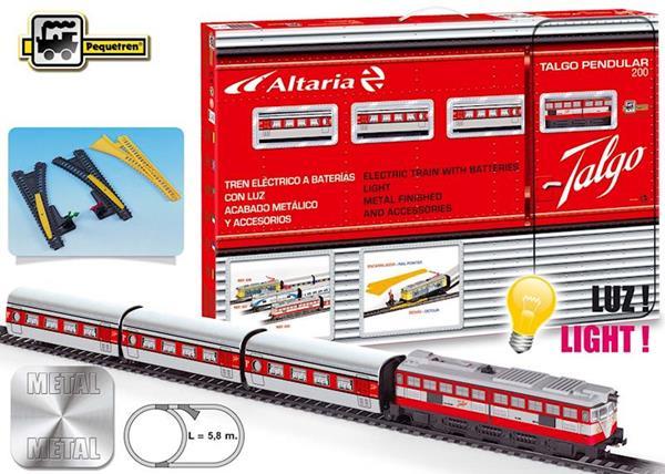 Imagen de Tren Talgo Metálico Articulado con Luz