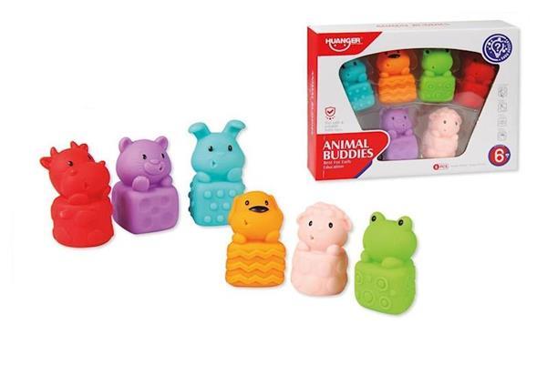 Imagen de Set 6 Animales Infantiles Blanditos