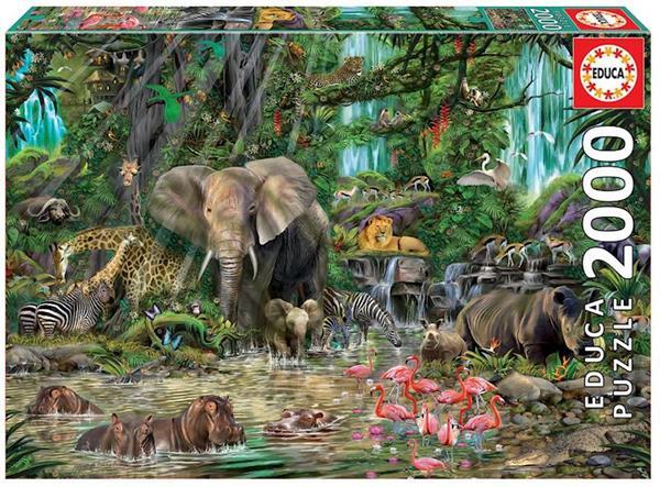 Imagen de Puzzle 2000 Piezas Jungla Africana