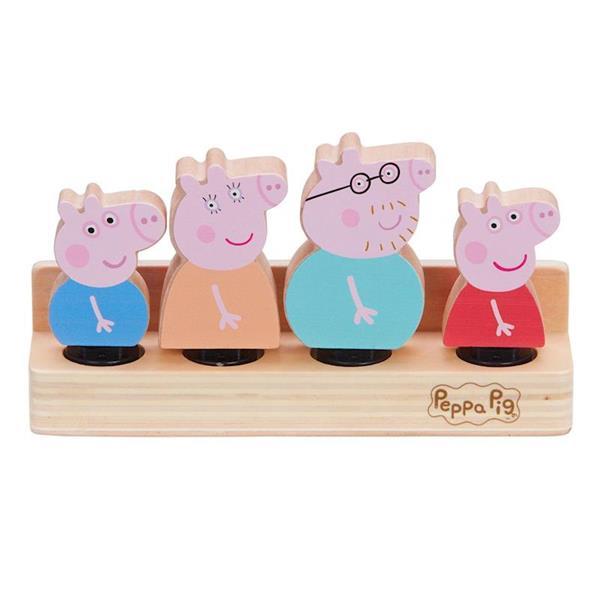 Imagen de Figuras Madera Familia Peppa Pig