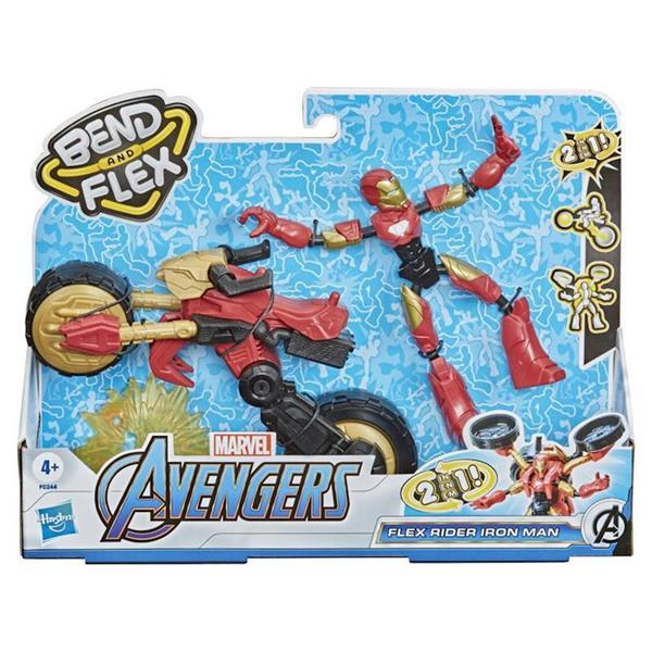 Imagen de Figura Iron Man Bend And Flex Con Vehículo