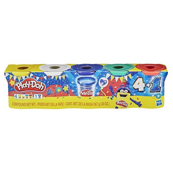 Imagen de Play Doh Pack 6 Botes plastilina Brillante
