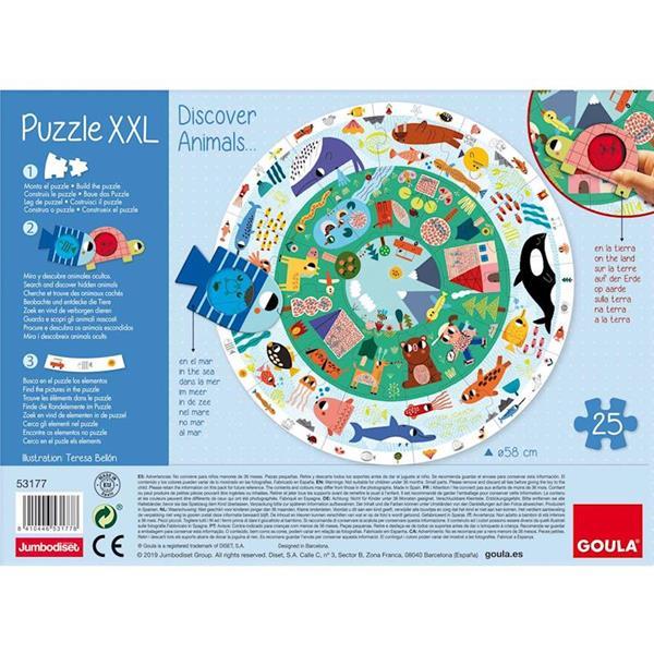 Imagen de Goula Puzzle XXL Descubre Animales