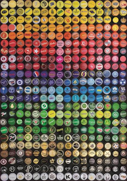 Imagen de Puzzle 1000 piezas Collage de Chapas