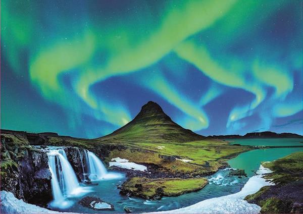 Imagen de Puzzle 1500 Piezas Aurora Boreal Islandia