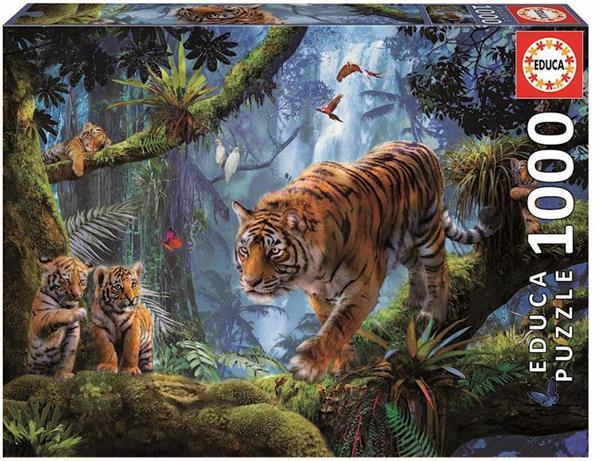 Imagen de Puzzle1000 Piezas Tigres En el Arbol