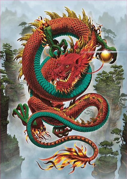 Imagen de Puzzle 500 Piezas Dragon De La Buena Fortuna