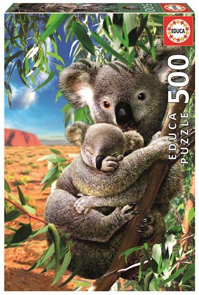 Imagen de Puzzle 500 Piezas Koala Con Su Cachorro