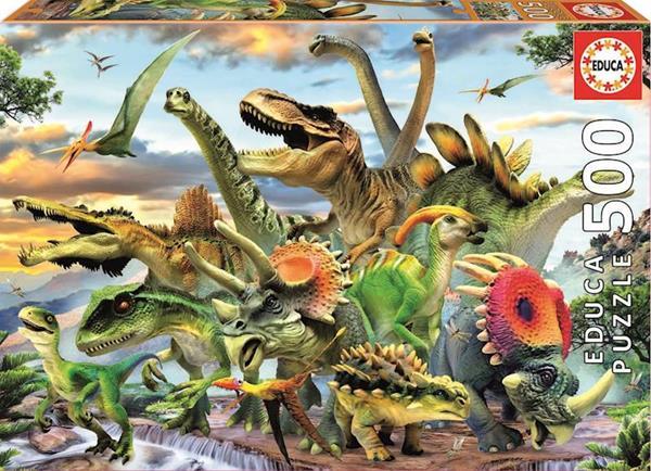 Imagen de Puzzle 500 Piezas Dinosaurios