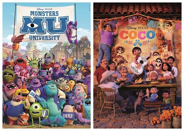 Imagen de Puzzle Coco Y Monsters University 2X100 Pixar