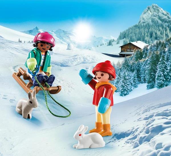 Imagen de Playmobil Special Plus Niños con Trineo