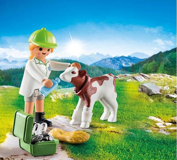 Imagen de Playmobil Special Plus Veterinaria con Ternero