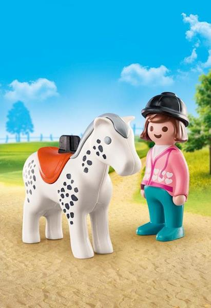 Imagen de Playmobil 1.2.3 Caballo Con Jinete