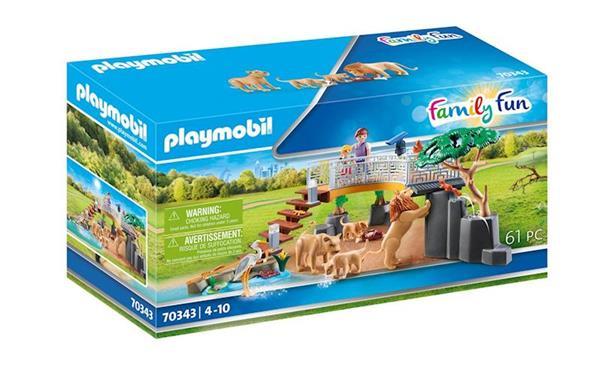 Imagen de Playmobil Family Fun Recinto Exterior de Leones