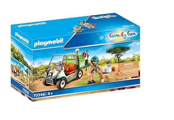 Imagen de Playmobil Family Fun Veterinario de Zoo con Coche Médico