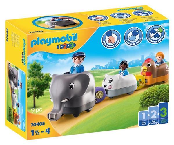 Imagen de Playmobil 1.2.3 Mi Tren de Animales