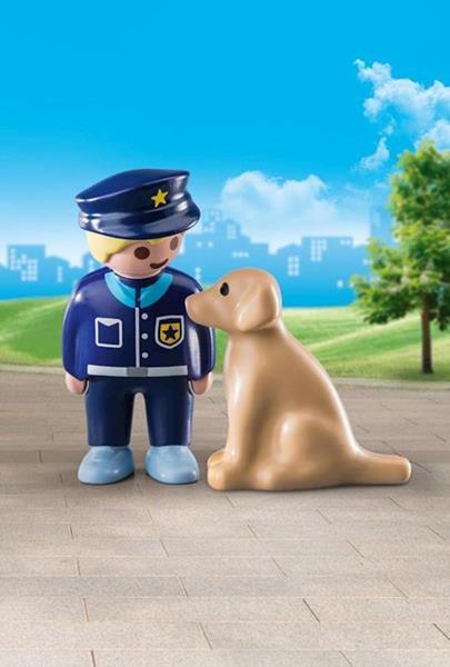 Imagen de Playmobil 1.2.3 Policía con Perro