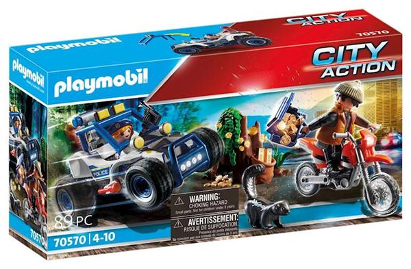 Imagen de Playmobil City Action Vehículo Todoterreno de Policía Persecución del Ladrón.