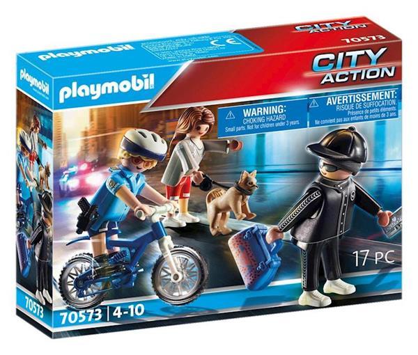 Imagen de Playmobil City Action Bici Policial Persecución del Carterista