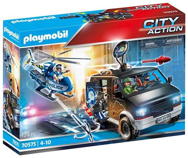 Imagen de Playmobil City Action Helicóptero de Policía Persecución del Vehículo Huido