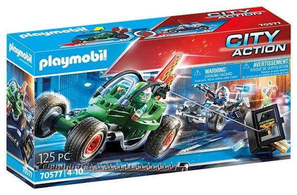 Imagen de Playmobil City Action Kart Policial Persecución Ladrón de Caja Fuerte