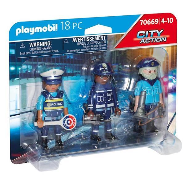 Imagen de Playmobil City Action Set Figuras Policía