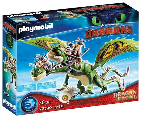 Imagen de Playmobil Dragon Racing Dragón 2 Cabezas con Chusco y Brusca