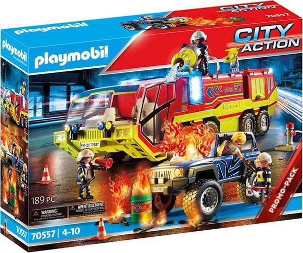 Imagen de Playmobil City Action Operación de Rescate con Camión de Bomberos