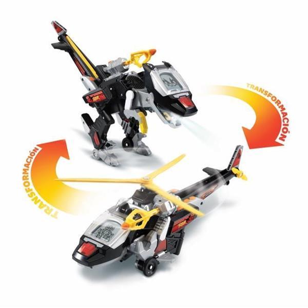 Imagen de Vehículo Switch Go Dino Velociraptor Transformable en Helicóptero