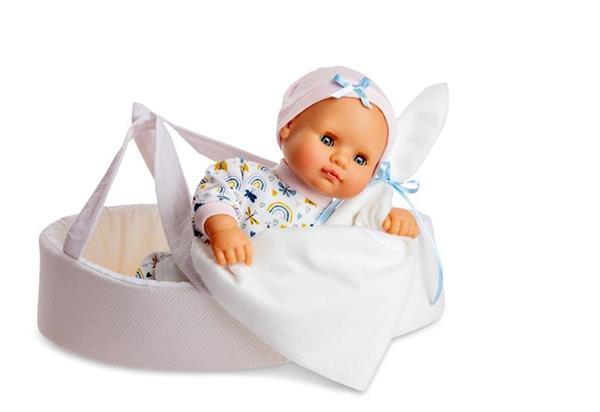 Imagen de Muñeco Baby Shoes Canastilla Rosa