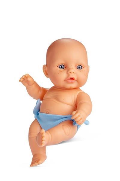 Imagen de Muñeco Newborn Cubrepañal Azul 20 Cm