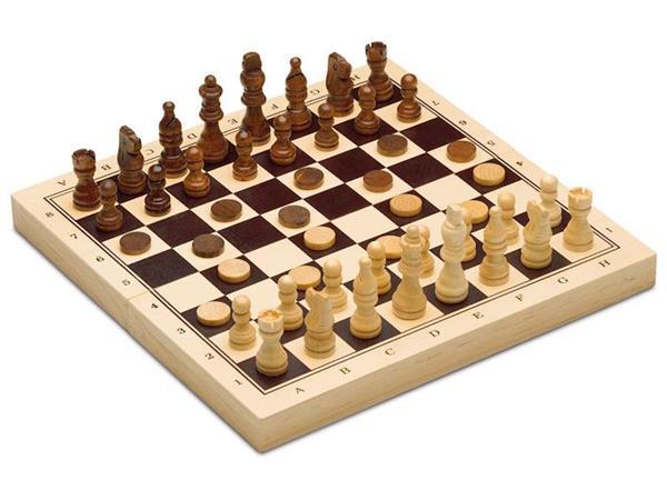 Imagen de Ajedrez, Damas y Backgammon de Madera