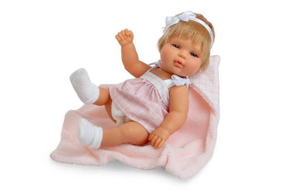 Imagen de Muñeca Baby Smile Vestido Rosa