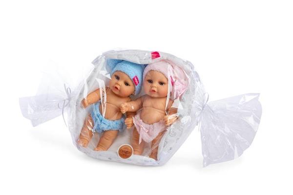 Imagen de Pareja Mini Baby con Cesta en Bolsa