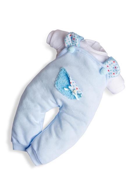 Imagen de Vestido 45 cm Baby Sweet Peto Azul Celeste