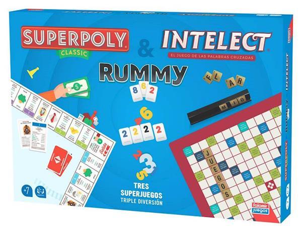 Imagen de Juego Superpoly Intelect y Rummy