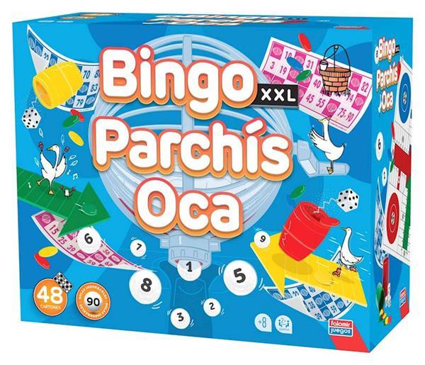 Imagen de Juego Bingo XXL Premium, Parchis y Oca
